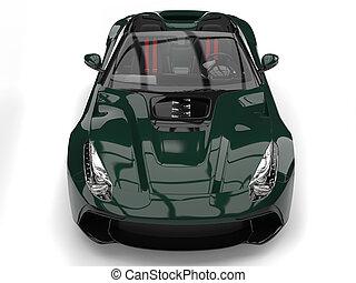 autó, modern, sport, sötét, finom, zöld, átváltható
