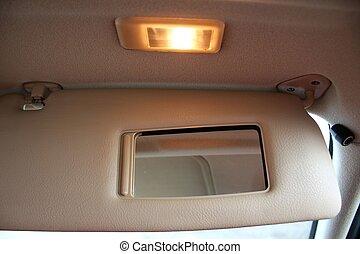 autó, nap csillogó, oltalom, sisakrostély