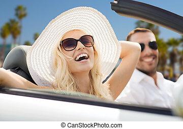 autó, párosít, átváltható, vezetés, boldog