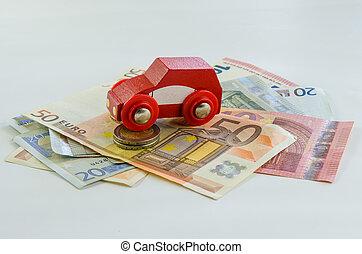 autó, pénz, fogalom