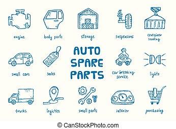 autó, parts., állhatatos, kímél