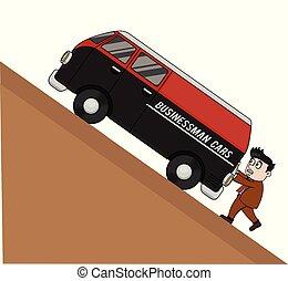 autó, rámenős, bussinessman