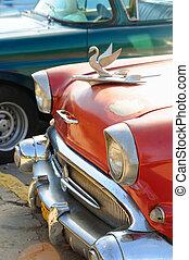 autó, részletez, klasszikus