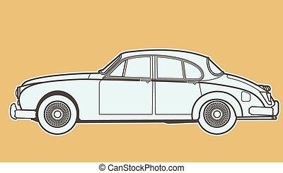 autó, retro