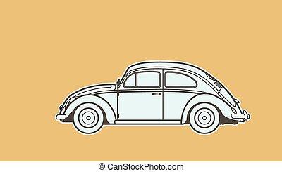 autó, retro, mesebeli