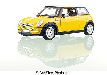 autó, sárga