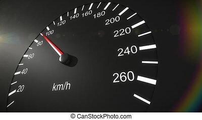 autó, sebességmérő, hd