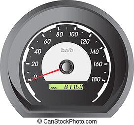 autó, sebességmérő, versenyzés, design.