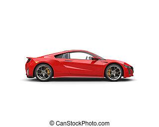 autó, -, sport, sötét, futuristic, lejtő, piros, kilátás