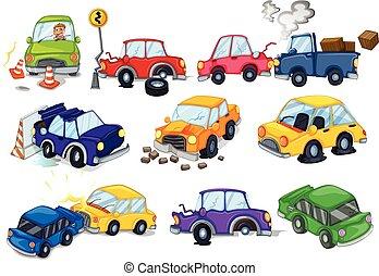 autó, szerencsétlenségek