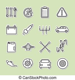 autó szolgáltatás, ikon