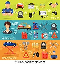 autó szolgáltatás, szalagcímek