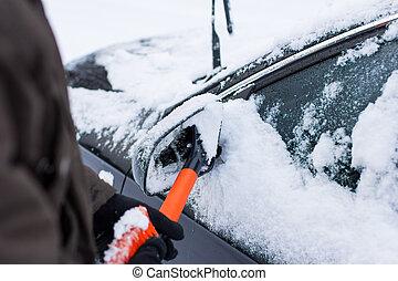 autó, tél, út