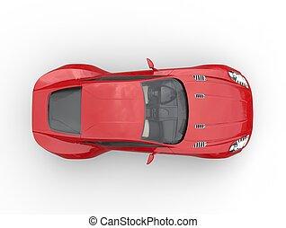 autó, tető, -, sport, piros, kilátás