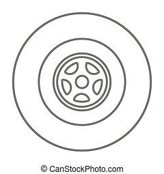 autó tol, egyenes, icon.
