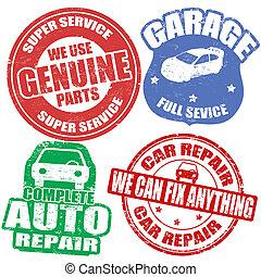 autó, Topog, állhatatos, szolgáltatás