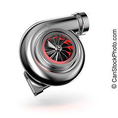 autó, turbina, turbocharger.