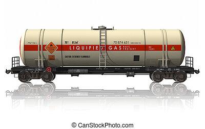 autó, vasút, tartálykocsi, benzin