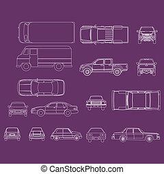 autó, vektor