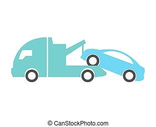 autó, vontatás, csereüzlet