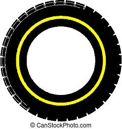 autó, wheel.