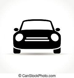 autó, white háttér, ikon