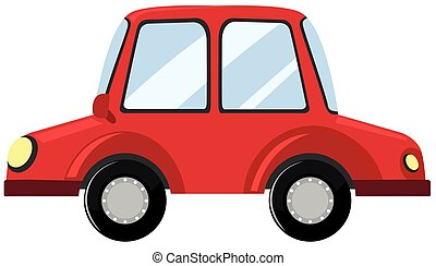 autó, white piros, háttér
