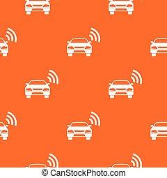 autó, wifi, motívum, seamless, aláír