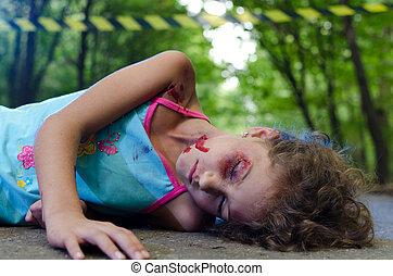 autóbaleset, áldozat, gyermek