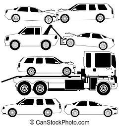autóbaleset, ütközés