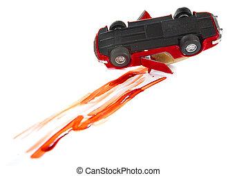 autóbaleset, véres
