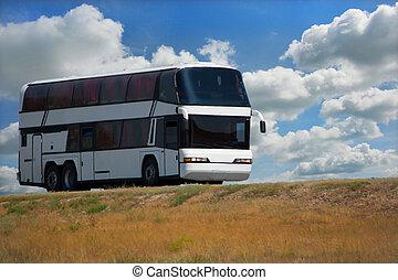 autóbusz, autóút, ország
