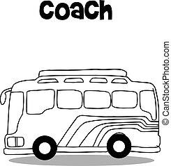 autóbusz busz, vektor, művészet