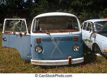 autóbusz, idős, vw