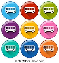 autóbusz, ikonok