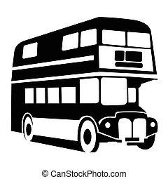 autóbusz, jelkép, london