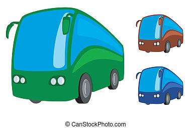 autóbusz, természetjáró