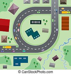 autók, az úton