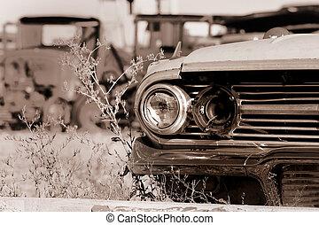 autók, elhagyatott