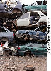 autók, junkyard