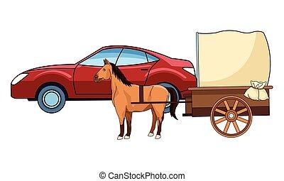 autók, ló, jármű, csapágyak