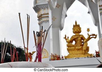 autel, encens, brahma