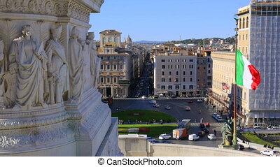 autel, italie, fatherland, rue, rome, vue