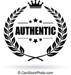 autentico, alloro, simbolo