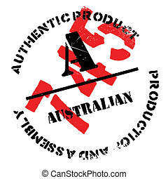 Authentic australian product stamp