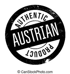 Authentic austrian product stamp