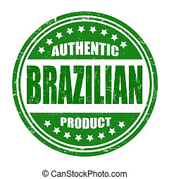 Authentic brazilian product stamp