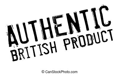 Authentic british product stamp