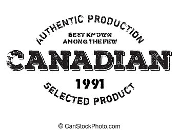 Authentic canadian product stamp