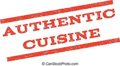Authentic Cuisine Watermark Stamp